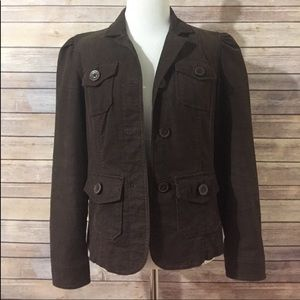 Gap Brown Corduroy Jacket Blazer sz 2